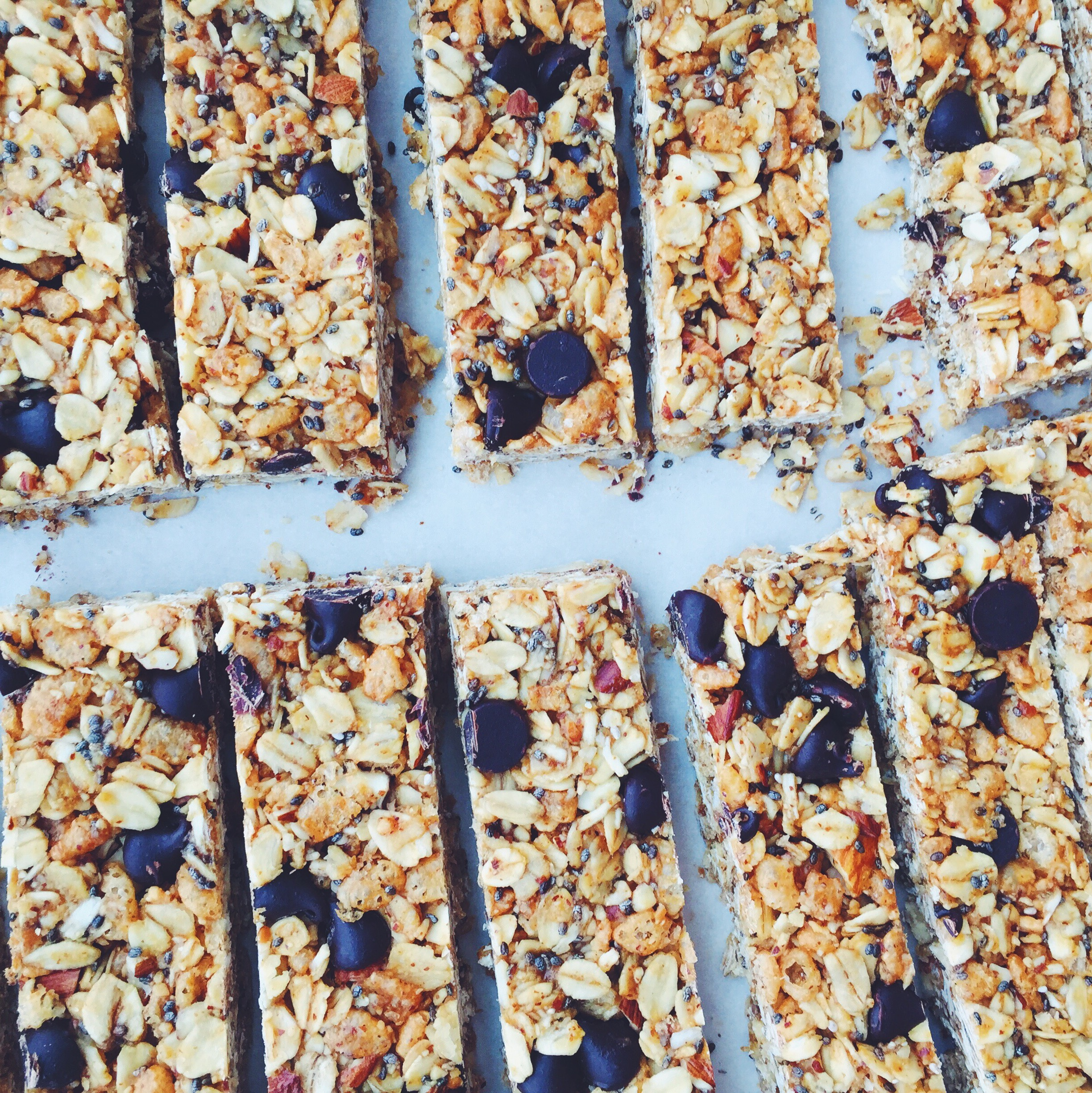 almond joy granola bars by angela liddon. so so good