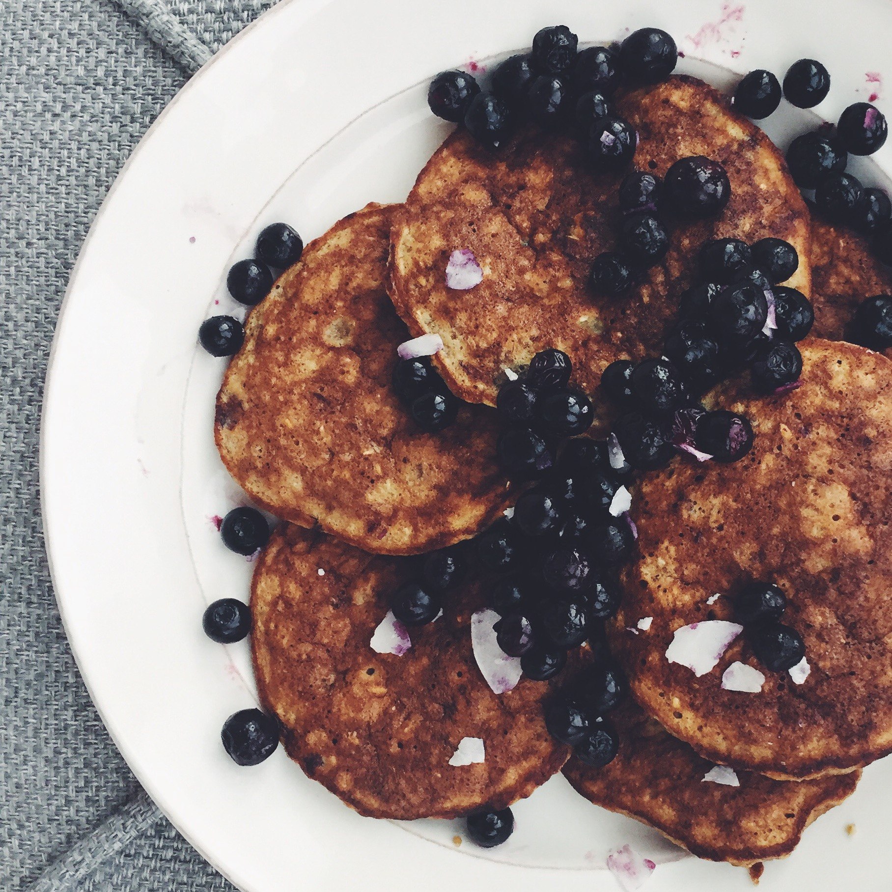 The BEST healthy pancakes i've ever had.